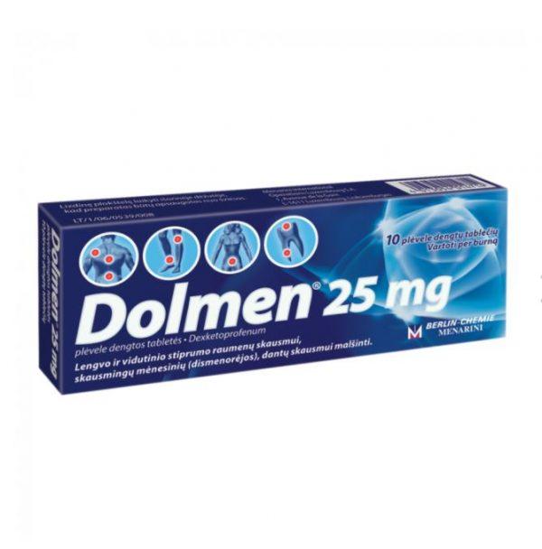 Dolmen 25mg – Pain Relief Migraine Toothache Headache Back Pain