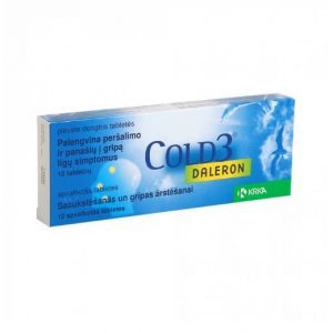 Daleron Cold 3 - Relieves The Symptoms of Colds Headache Fever and Flu-Like Illness