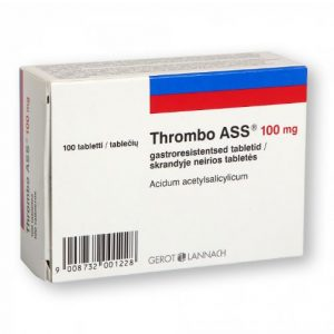 Thrombo Ass100mg - Stops Blood From Clotting And Blocking Blood Flow.