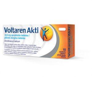 Voltaren Akti 10 Tablets - Muscle, Joint, Back, Headache, Dental Pain Relief