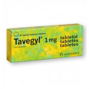Tavegyl (Clemastin) 20 Tablets - Allergy Itching Redness Pimples Swelling
