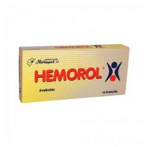 Hemorol 12 Suppositories- Natural Herbal Anti-Hemarrhoids Suppositories