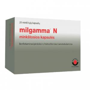 Milgamma N 20 capsules - Vitamin B complex to support nervous system