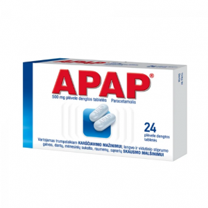 APAP 500mg – Pain Relief Tablets Migraine Toothache Headache