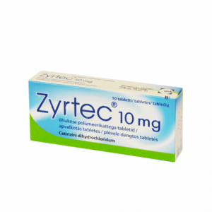 Zyrtec 10mg 10 Tablets - Ceterizinum Treatment of Allergenic Rhinitis