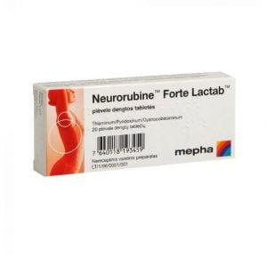Neurorubine Forte Lactab 20Tab. - High dose of Vitamin B1, B6, B12 for Nervous System Support